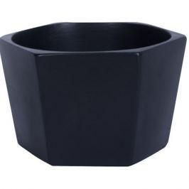 Кашпо «Эджес» шестигранник, 1.5 л, 18 см, цвет чёрный