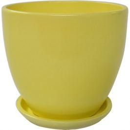 Горшок цветочный «Колор гейм», керамика, 2.6 л, 18 см, цвет жёлтый