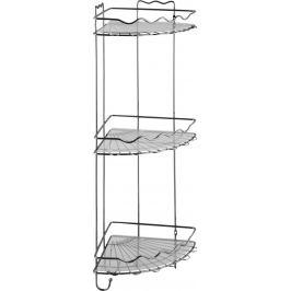 Полка для ванной комнаты Swensa трёхъярусная угловая металл
