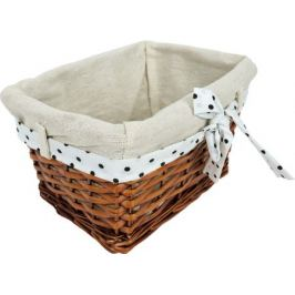 Корзина Ива с декоративным чехлом 25x14x17 см, плетенье цвет коричневый