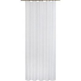 Штора на ленте «Клетка» 140х260 см цвет бело-чёрный