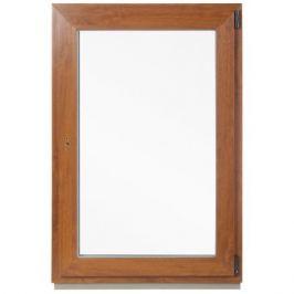 Окно ПВХ одностворчатое, 120x80 см, поворотно-откидное правое, цвет золотой
