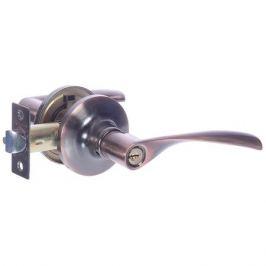 Ручка-защёлка Avers 8023-01-AC, с ключом и фиксатором, сталь, цвет старая медь