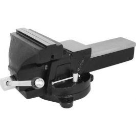Тиски слесарные поворотные Калибр ТПСН-150, с наковальней, 150 мм
