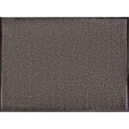 Коврик Fiesta, 90x120 см, полипропилен/ПВХ, цвет серый/чёрный