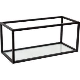 Полка-каркас для кухни 35х35х80 см, алюминий/стекло