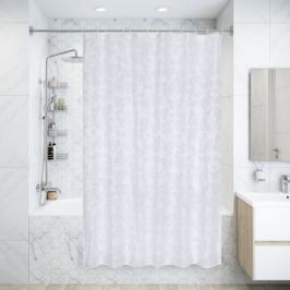 Штора для ванной комнаты Levity, 180x200 см, полиэстер