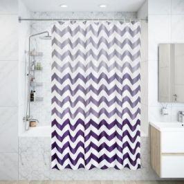Штора для ванной комнаты Zigzag, 180x200 см, полиэстер