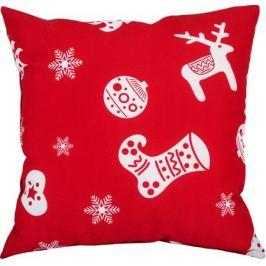 Подушка «Новый год» 40х40 см, цвет красный