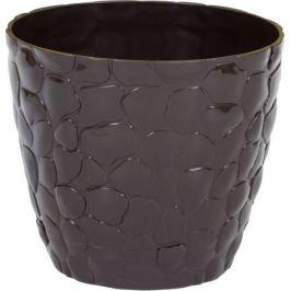 Кашпо «Камни» 180 мм 2.6 л, цвет коричневый