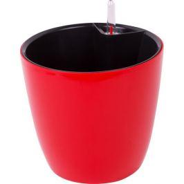 Горшок цветочный с автополивом круглый 3.5 л 160 мм, цвет красный
