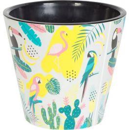 Горшок цветочный «Фиджи Фламинго» 4 л 200 мм, пластик