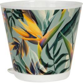 Горшок для цветов «Тропики», 1.8 л, 16 см, полипропилен, с поддоном