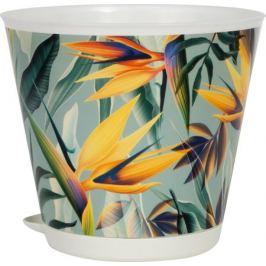 Горшок для цветов «Тропики», 0.7 л, 16 см, полипропилен, с внутренней вставкой