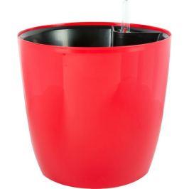 Горшок с автополивом «Бочка» 20 см, 5л, цвет красный