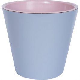 Горшок цветочный «Фиджи» 4 л 200 мм, пластик, цвет пепельный