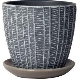 Горшок цветочный «Метро», 0.7 л 120 мм, бетон, цвет серый