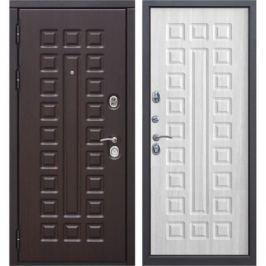 Дверь входная металлическая Сенатор 12 см, 860 мм, левая, цвет белый ясень