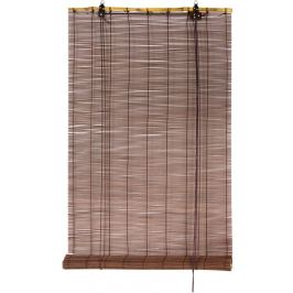 Штора рулонная «Бамбук» 80х175 см, цвет шоколад