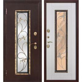Дверь входная металлическая Плющ, 860 мм, левая, цвет белый ясень