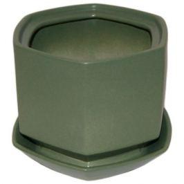 Горшок цветочный «Меркурий» №2, 1.7 л 180 мм, глина, цвет зелёный