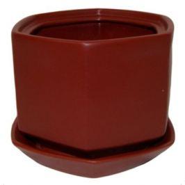 Горшок цветочный «Меркурий» №3, керамика, цвет бордовый