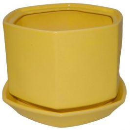 Горшок цветочный «Меркурий» №2, 1.7 л 180 мм, глина, цвет жёлтый