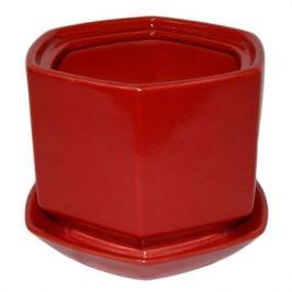 Горшок цветочный «Меркурий» №3, керамика, цвет красный