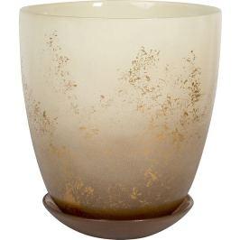 Горшок «Современный», 2 л, 15.8 см, стекло, цвет прозрачный кремовый