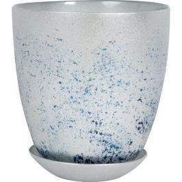 Горшок «Современный», 1 л, 15.8 см, стекло, цвет серебрённый металлик
