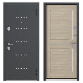 Дверь металлическая Контрол Леона, 960 мм, левая, цвет дуб сонома