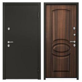 Дверь металлическая Термо С-2, 950 мм, правая, цвет лесной орех