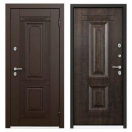 Дверь металлическая Термо С-2 РР, 950 мм, правая, цвет грецкий орех
