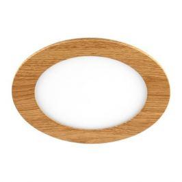 Светильник точечный встраиваемый влагозащищенный DLUSWD 150 мм, 5 м², тёплый белый свет, цвет белый/дерево