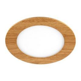 Светильник точечный встраиваемый влагозащищенный DLUSWD 120 мм, 4 м², тёплый белый свет, цвет белый/дерево