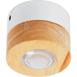 Светильник точечный светодиодный накладной влагозащищённый 12-100, 2 м², тёплый белый свет, цвет бук