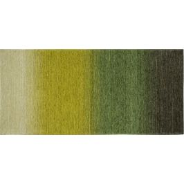 Коврик «Сабрина» 258, 160х75 см, латекс/шенилл, цвет зелёный/жёлтый