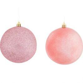 Набор ёлочных шаров 10 см цвет красный, 6 шт.