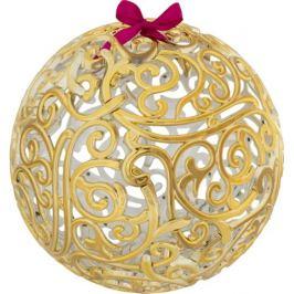 Шар ёлочный «Ажурный», 20 см, пластик, цвет золото матовое