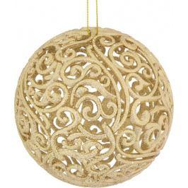 Шар ёлочный «Ажурный», 10 см, пластик, цвет золото