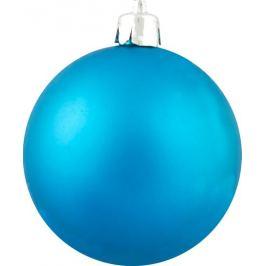 Набор ёлочных шаров «Микс» 6 см, цвет бирюзовый, 6 шт.