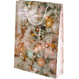 Пакет подарочный «Заснеженная ёлка» 33x46 см
