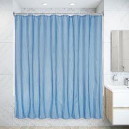 Штора для ванны Rapla с кольцами 200х240 см, полиэстер, цвет голубой