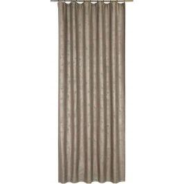 Штора на ленте «Marta», 140х260 см, геометрия, цвет серый