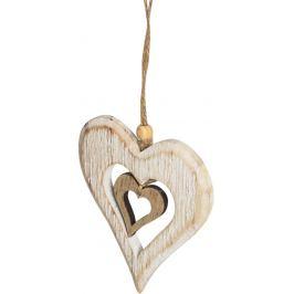 Украшение ёлочное «Сердечко», 11 см, дерево