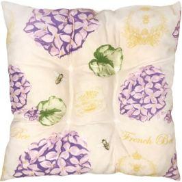 Подушка для стула «Сиреневый сад» 40х40 см цвет сиреневый/зелёный