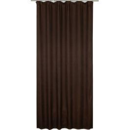 Штора на ленте «Латифа», 160x270 см, однотон, цвет коричневый