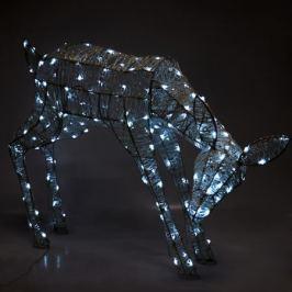 Электрогирлянда-фигура светодиодная «Олень» для улицы 180 ламп, цвет холодный белый