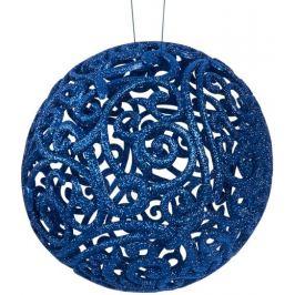 Шар ёлочный «Ажурный», 20 см, пластик, цвет синий