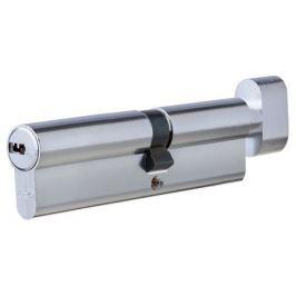 Цилиндр Abus 55х45 мм, ключ/вертушка, цвет никель